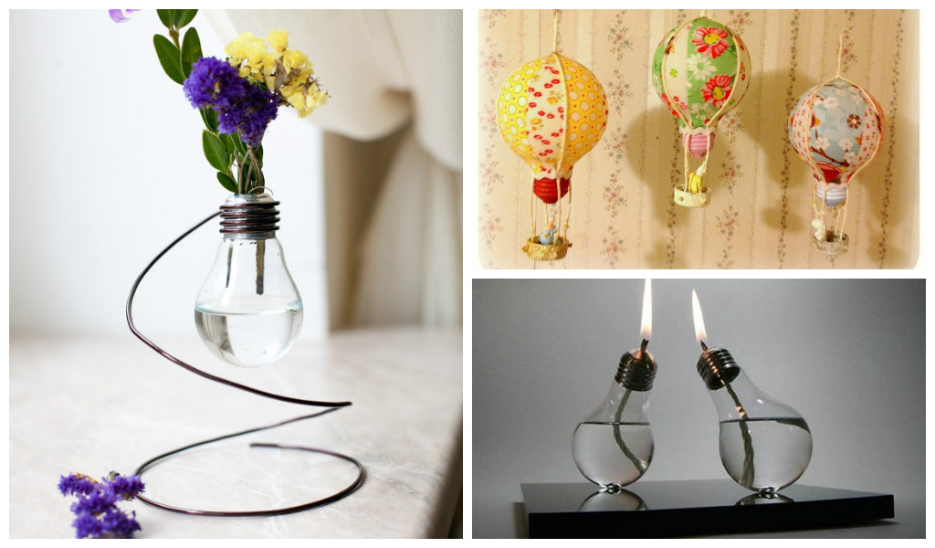 24 creative diy light bulbs for Recycled room decoration crafts