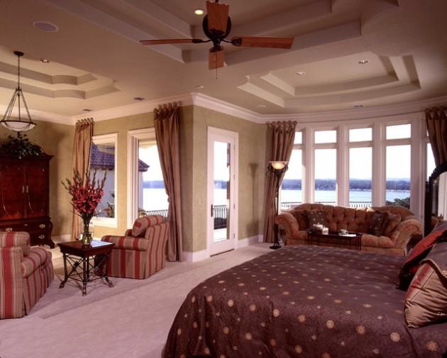 Large Rustic Master Bedroom