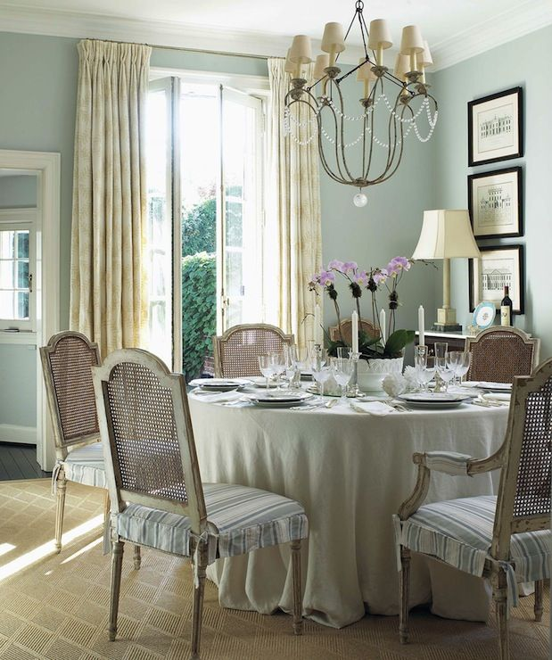 Country French Inspired Dining Room Ideas