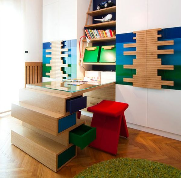 Colorful Kids Rooms: 22 Colorful And Inspirational Kids Room Desks For Studying