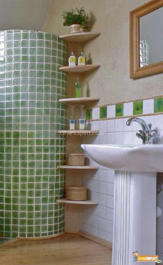 Creative Bathroom Shelving Ideas : Creative and practical diy bathroom storage ideas