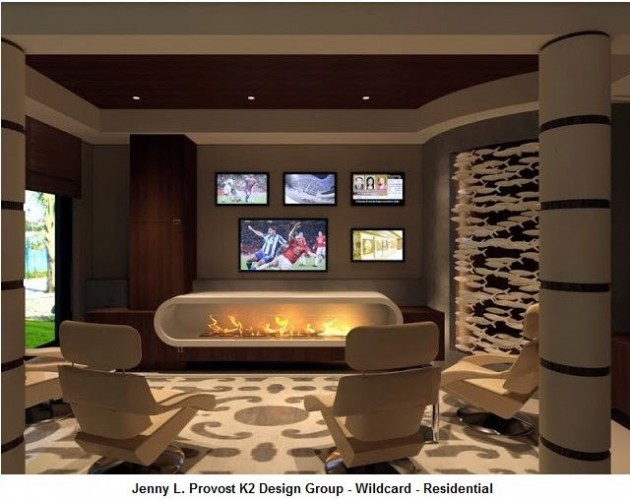 22 Contemporary Media Room Design Ideas