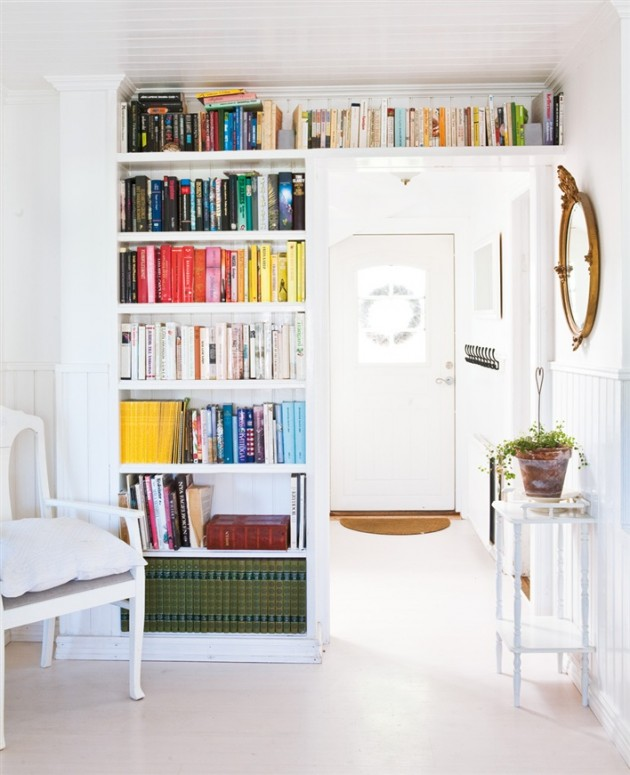 20 Remarkable Modern Hallway Designs That Will Inspire You: 30 Marvelous Bookshelf Walls