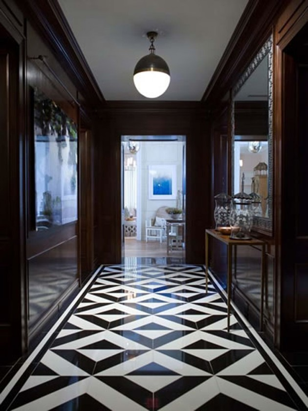 Black And White Floor Tile Part - 44: 25 Classy And Elegant Black U0026 White Floors