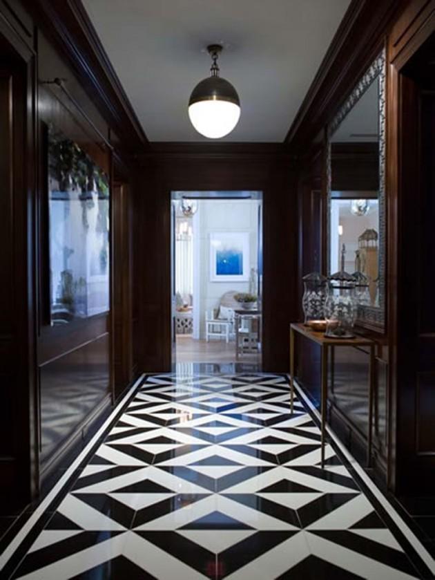 Small Living Room Interior Design: 25 Classy And Elegant Black & White Floors