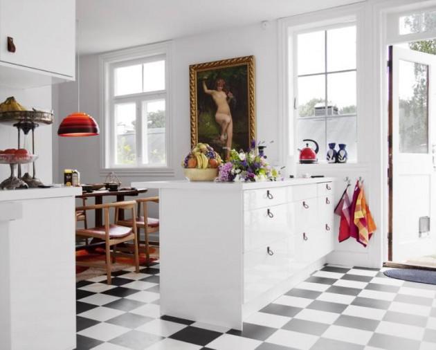 Pavimento a scacchi bianco e nero arredo ideeof piastrelle cucina