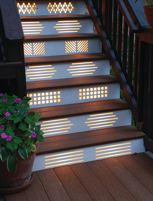 27 attractive outdoor steps lighting designs for Luminaire de jardin led