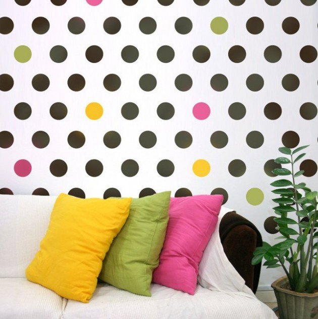 25 Amazing Polka Dot Interior Walls