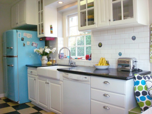 25 lovely retro kitchen design ideas for Classic style kitchen ideas