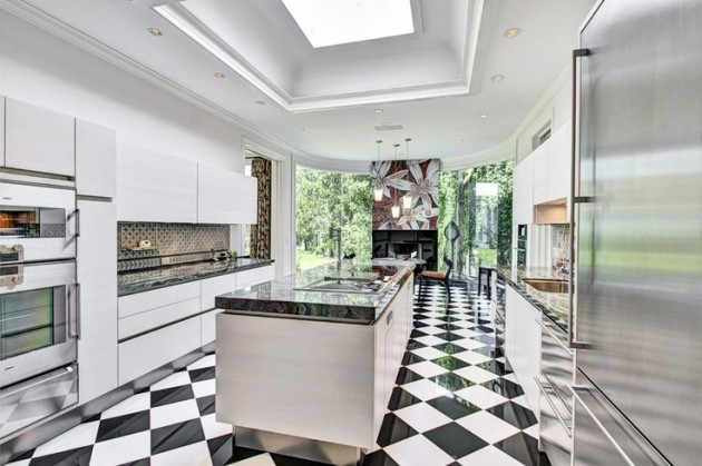 25 Classy and Elegant Black & White Floors
