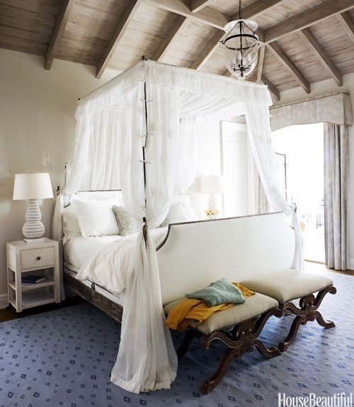 Modern Home Decor Ideas: 33 Incredible White Canopy Bedroom Ideas