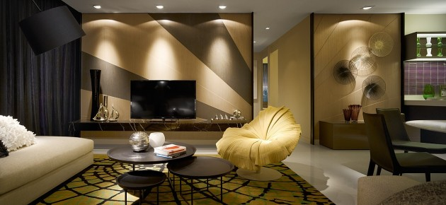 Fancy Interior Design in Kuala Lumpur Designed by Blu Water Studio
