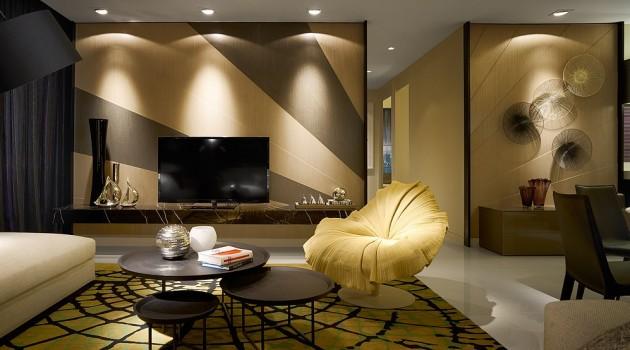 Fancy Interior Design in Kuala Lumpur Designed by Blu Water Studio