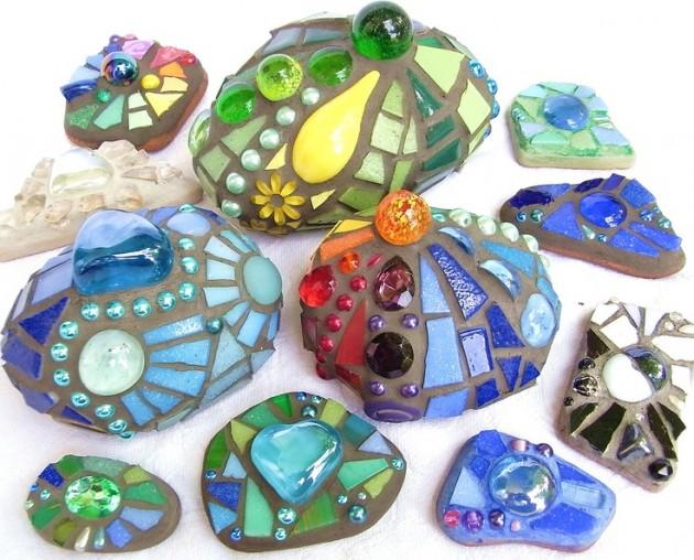 30 Creative DIY Items with Mosaic Decor