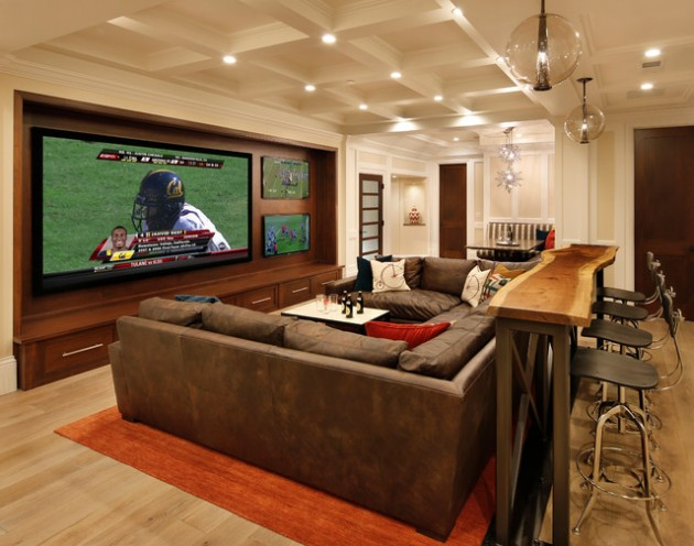 22 contemporary media room design ideas for Media room decorating ideas