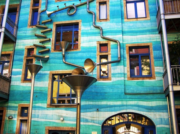 Musical Fa 231 Ade Gutter Funnel Wall Dresden Germany