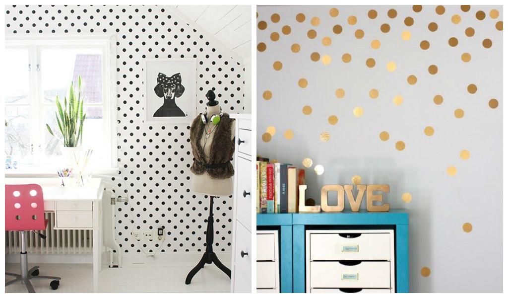 25 Amazing Polka Dot Interior Walls