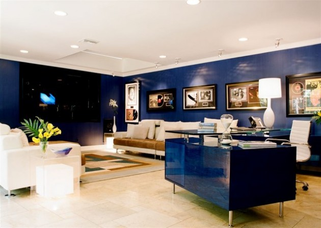30 Elegant Blue Walls Design Ideas
