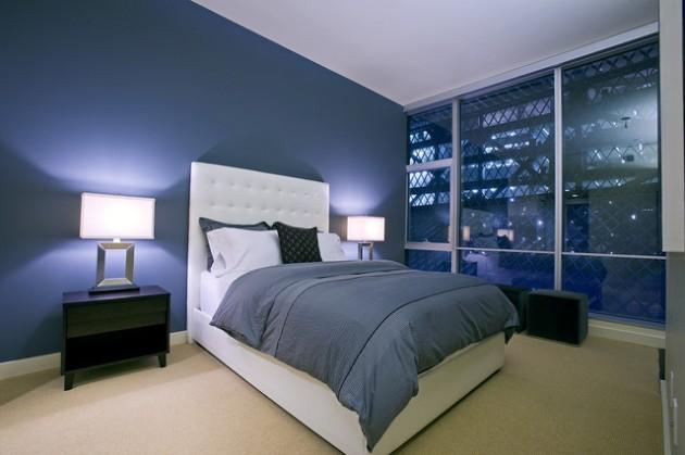 30 Elegant Blue Walls Design Ideas