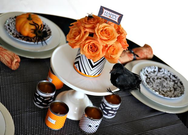 Diy halloween party decorations for Halloween party favor ideas