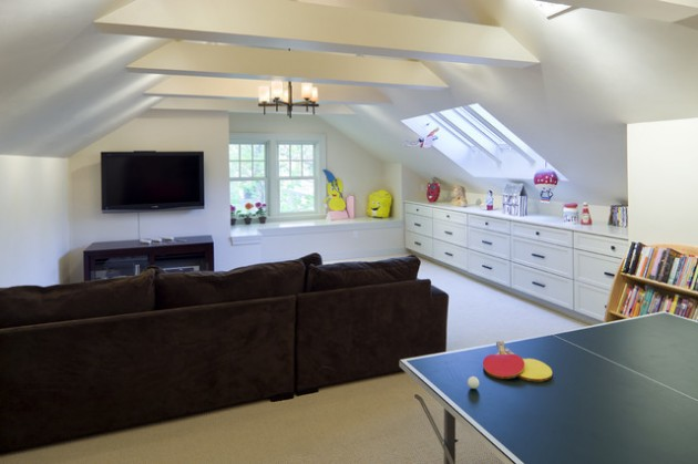 20 Wonderful Examples of Repurposing an Attic for Kids ...