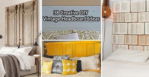 38 Creative DIY Vintage Headboard Ideas