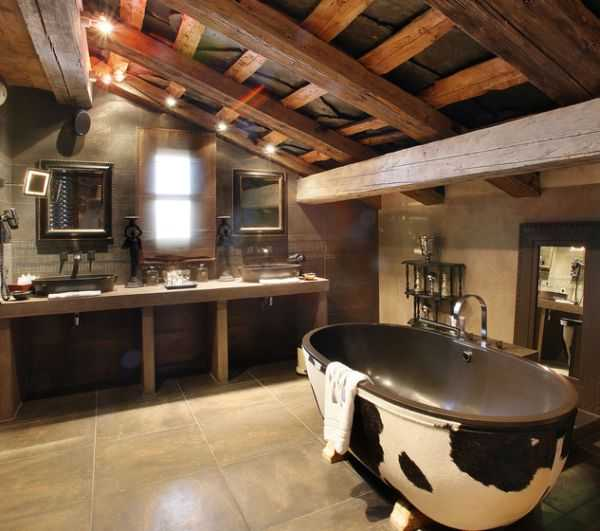 23 fantastic rustic bathroom design ideas for Moderno bagno ranch