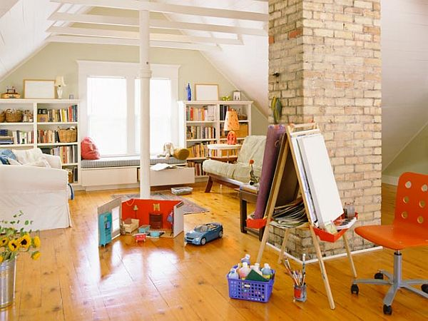 20 Wonderful Examples Of Repurposing An Attic For Kids