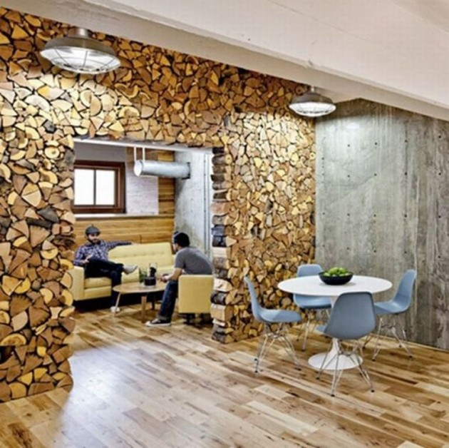 26 impressive wood log wall ideas - Wood Wall Design Ideas