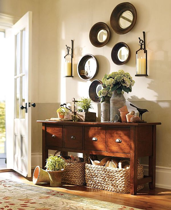 30 wonderful solutions for non existent entryway for Entry wall table