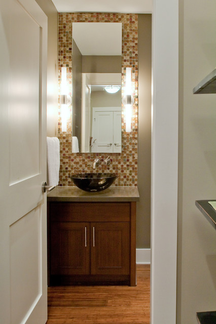 Elegant 25 Modern Powder Room Design Ideas