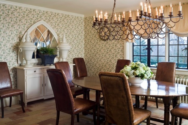 28 Sleek English Country Dining Room Design Ideas