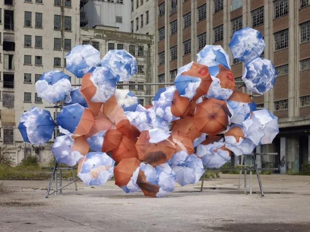 23 Incredible Umbrella Art Installations
