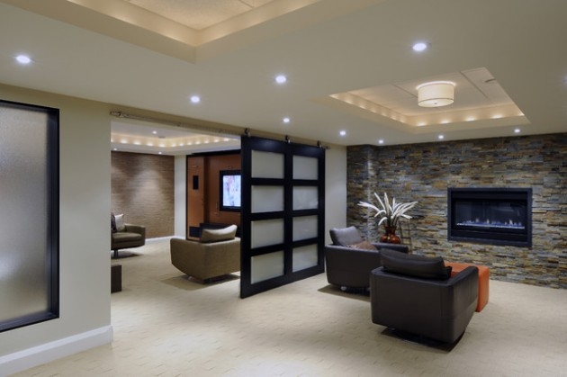 24 stunning ideas for designing a contemporary basement - Interior Design Basement