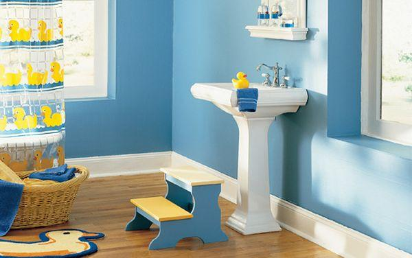 Bathroom Designs Kids cool blue kids bathroom design ideas