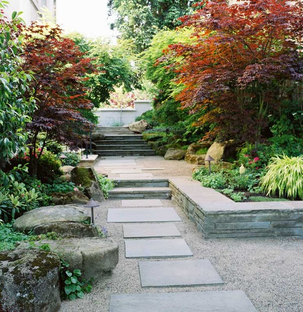 25 Wonderful Examples of Terraced Front Yard Gardens