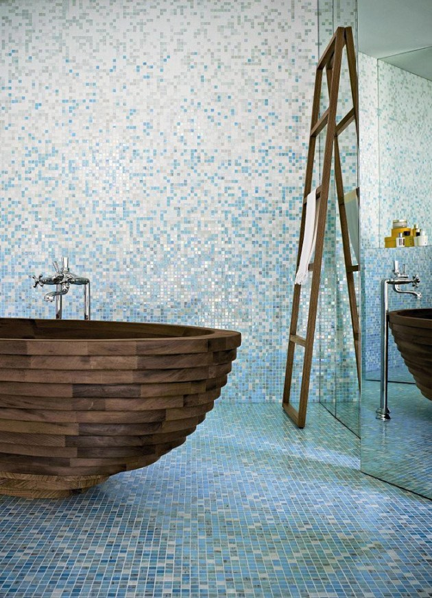 30 Relaxing and Chill Wooden Bathtubs