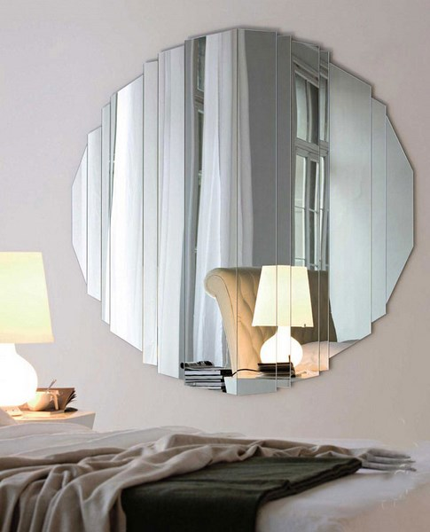 Wonderful 28 Unique And Stunning Wall Mirror Designs For Living Room