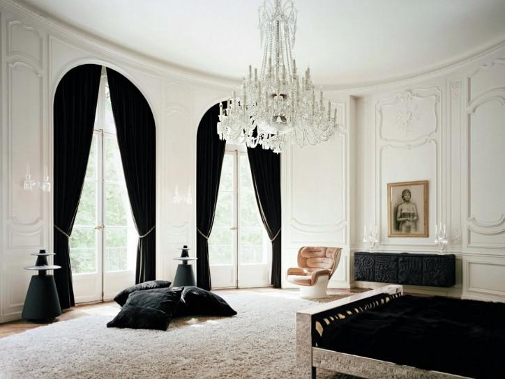 Black Curtains Part - 31: 30 Stylish Interior Designs With Black Curtains