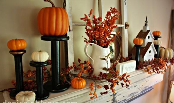 40 Delightful DIY Fall Mantel Decoration Ideas