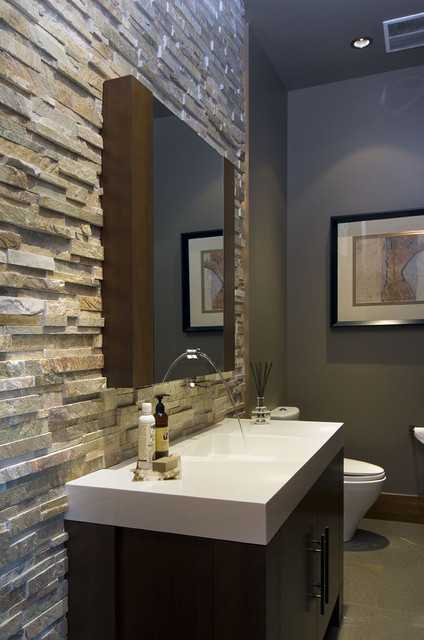 Nice 25 Modern Powder Room Design Ideas