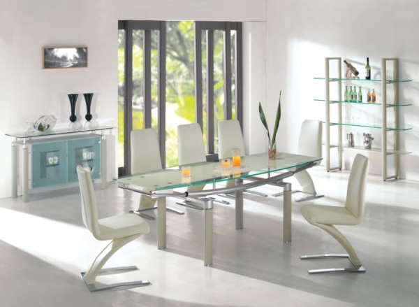 Elegant Glass Dining Table elegant glass table design ideas