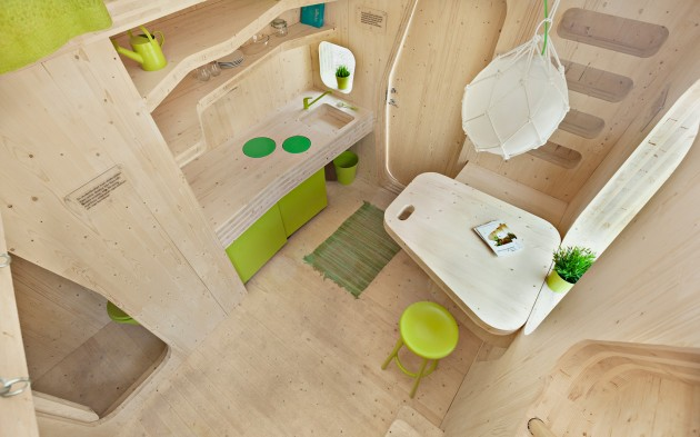 ECO FRIENDLY STUDENT FLAT BY TENGBOM ARCHITECT