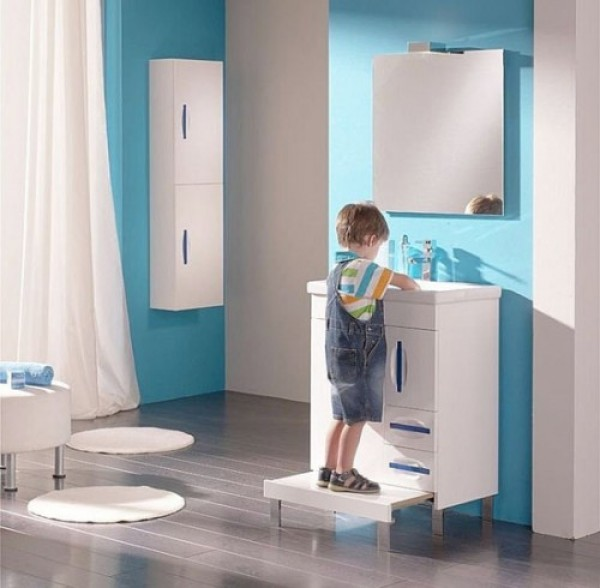 cool blue kids bathroom design ideas