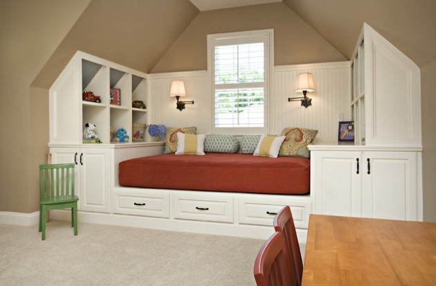 20 Wonderful Examples of Repurposing an Attic for Kids Playroom