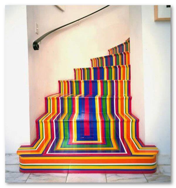 20 Attractive Painted Stairs Ideas: 20 Fancy Painted Stair Runners Ideas