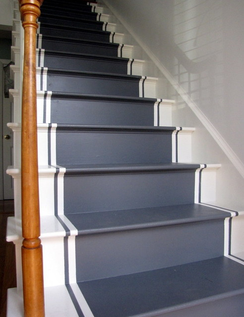 20 Fancy Painted Stair Runners Ideas
