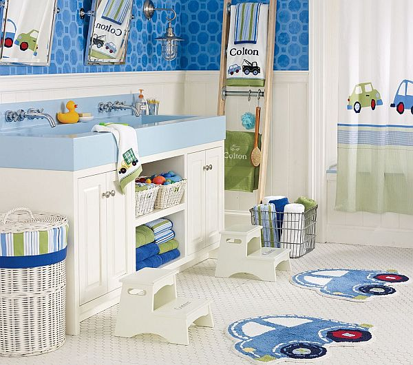 Bathroom Kids cool blue kids bathroom design ideas