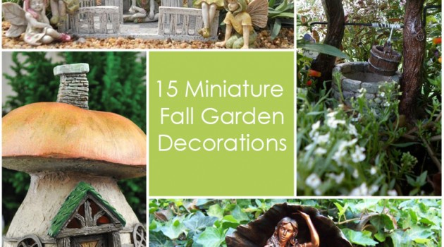 15 Miniature Fall Garden Decorations
