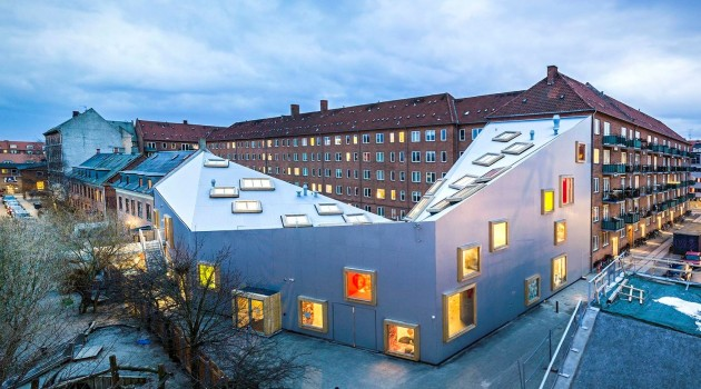 Ama'r Children's Culture House in Copenhagen, Denmark, by Dorte Mandrup Architects